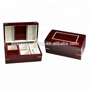 luxury high gloss lacquer finish burner wooden perfume box with strass lid and burner