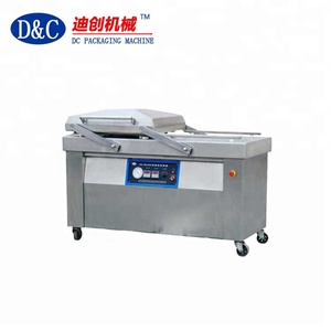 Double chamber vacuum packing machine for meat and vegetable