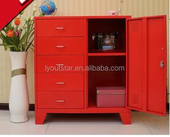 Metal red ironing board lightweight balcony storage locker cabinet steel wardrobe & Metal Red Ironing Board Lightweight Balcony Storage Locker Cabinet ...