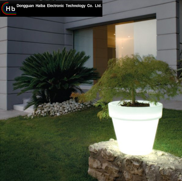 New Led Pot for Flowers Plants color changed rechargeable outdoor led snake vase flower pot solar