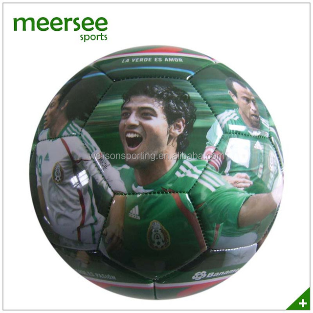 Team sports player photo printed training equipment football soccer balls