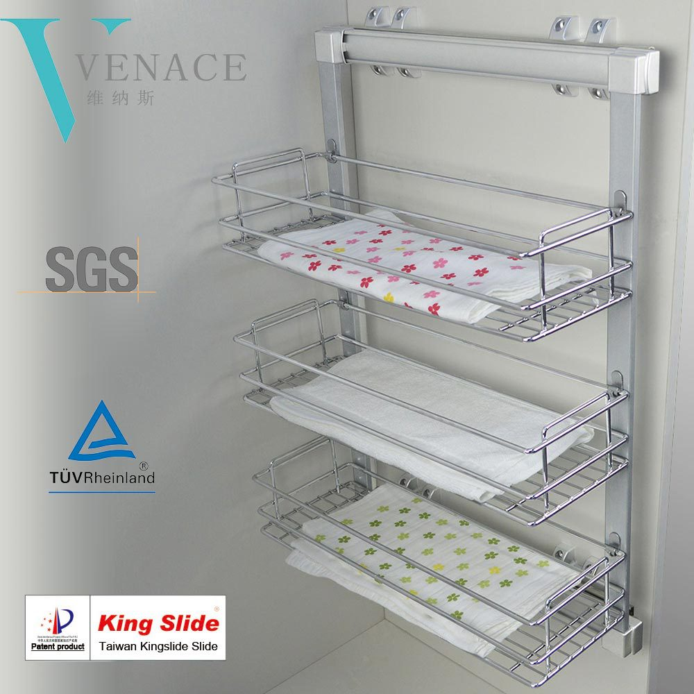 Captivating Storage Pull Out Drawer Metal Wire Basket With Slides