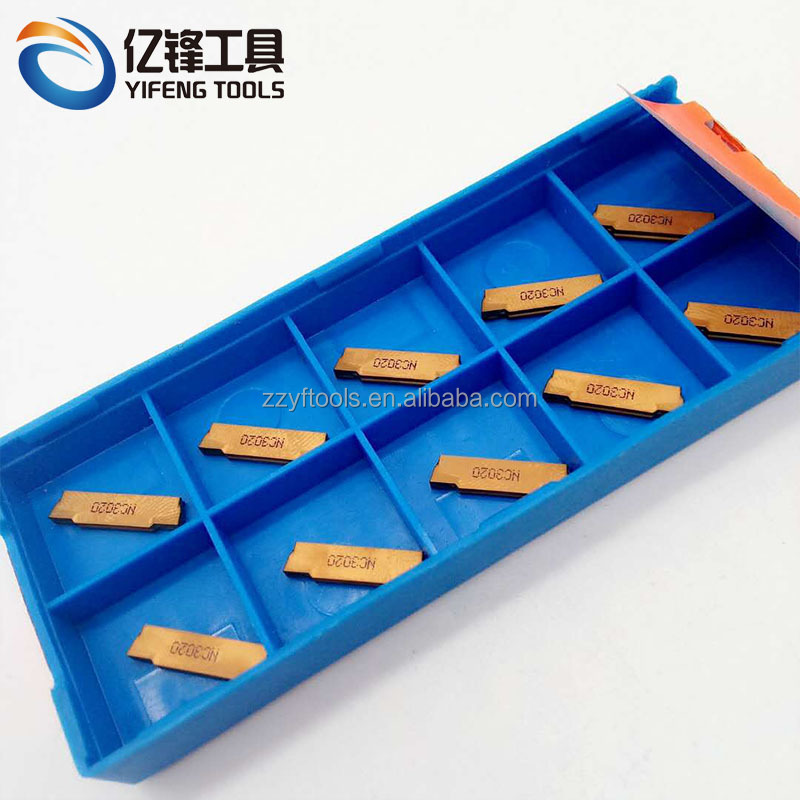 10pcs MGMN200-G K10 CNC Grooving inserts cutting tool carbide blade for aluminum