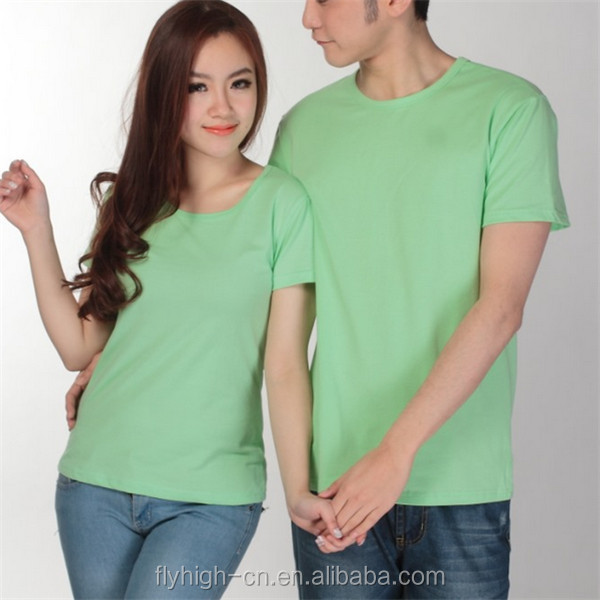 Newest Plain Cotton T Shirt,Cheap Plain Couple T-shirt