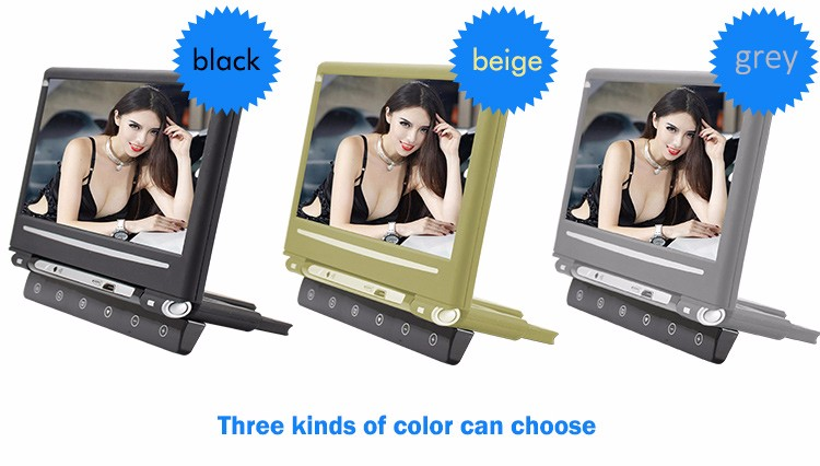 Car Media Player 10.1 inch LCD Digital Screen Headrest Monitor with USB/SD/IR