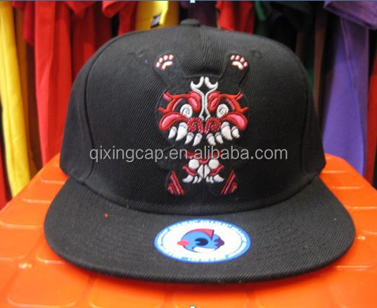 Design your own Black Snapback hat 3d acrylic letters for Snapback Hat from qing dao