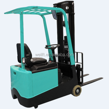 3 wheel counterbalanced 1ton 1.2ton mini electric forklift