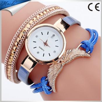 Hot sale Ladies luxury Butterfly Leather strap Casual Bracelet Watch Women  clock lady Wrap Quartz Watches 7a69f3a1ce