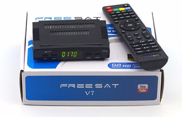 Freesat-receptor satélite v7 max, decodificador de tv HD, DVB-S2, 2018 P, V7, 1080
