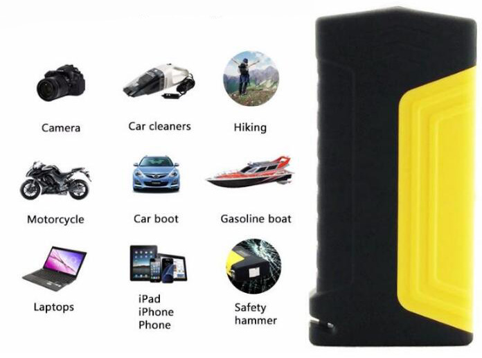 2019 New slim car jump starter with CE FCC ROHS car 12v battery jump starter 50800mah powerbank car jump starter