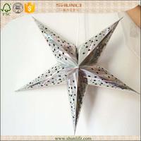 Foil stamp paper star lanterns wholesale for decoration