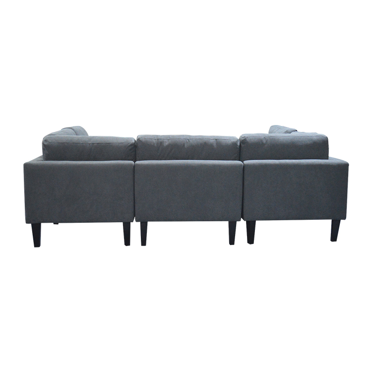 Modern Corner Cum Futon Dark Gray Comfortable Backrest Sofa Bed ...