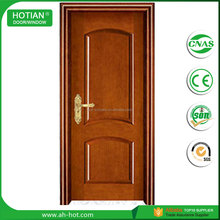 Economic surface finished swing open style PVC wooden door interior door with honey comb