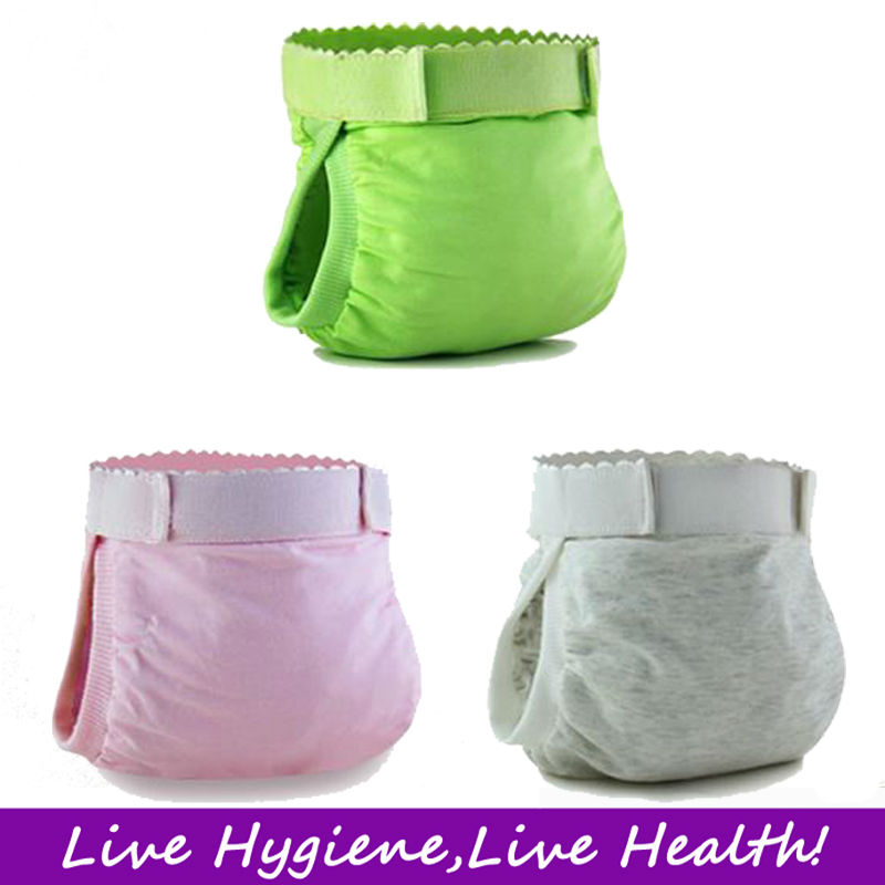 2014Hot 100% Cotton Baby Washable Diaper, Baby Reusable Diaper,Baby Cloth Diaper -S/M/L