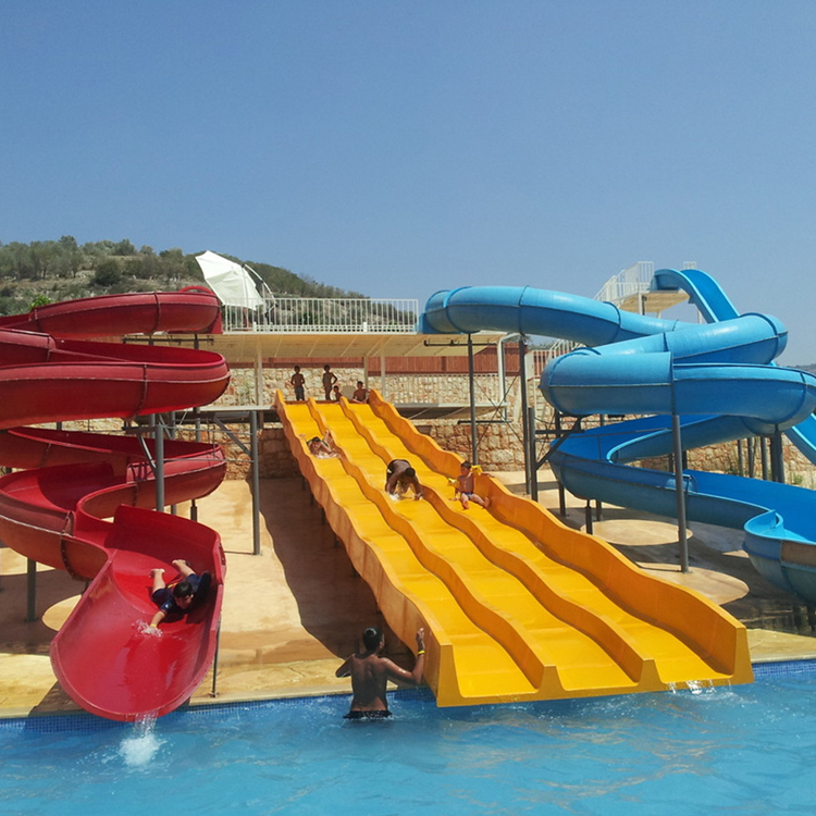 High quality custom Fiberglass bigger Water Park slide parts for sale