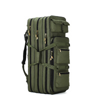 3 layers canvas waterproof spacious folding fishing rod bag fishing reel bag fishing tackle bag