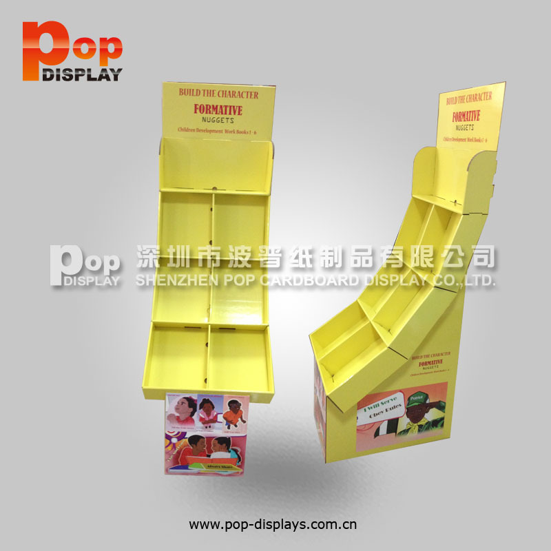 tabletop cardboard display unit for dvd