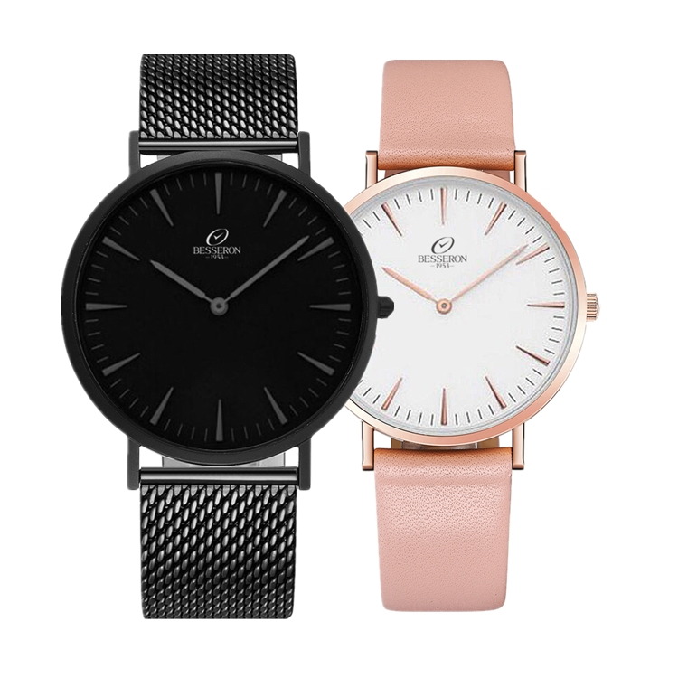 all black mesh strap brand watches european timepieces brands minimalist black dial two hands custom logo eagle time watches