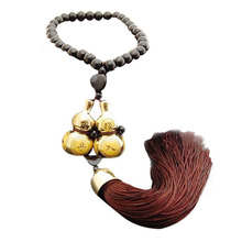 2016 New Hot Fashion Car Interior Accessories Ornaments Gold Plated Double Gourd Lucky Entry Car Pendant Free Shipping&Wholesale
