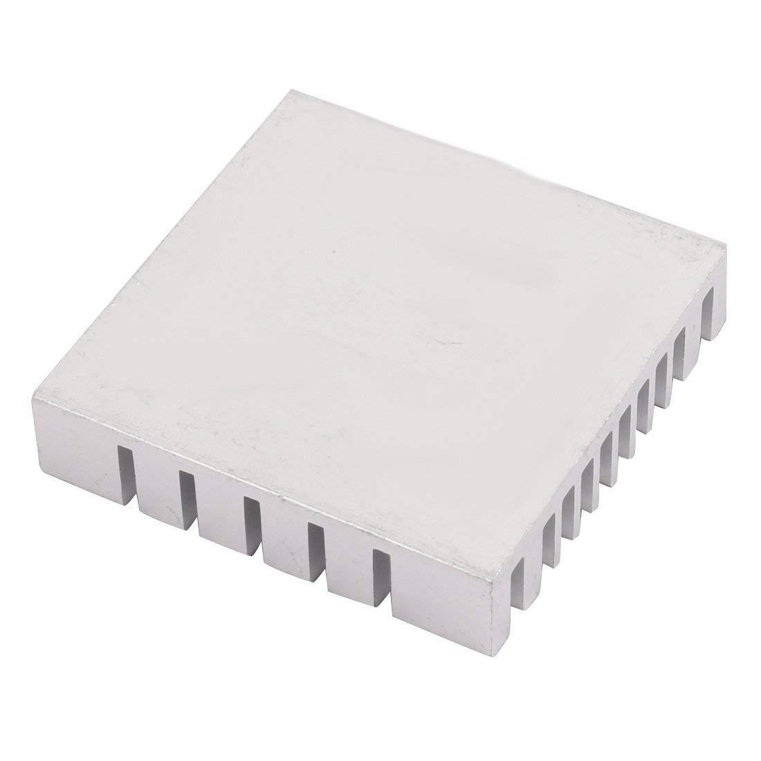 Ucland 40mm x 40mm x 9mm Aluminum Heatsink Heat Diffuse Cooling Fin Silver Tone