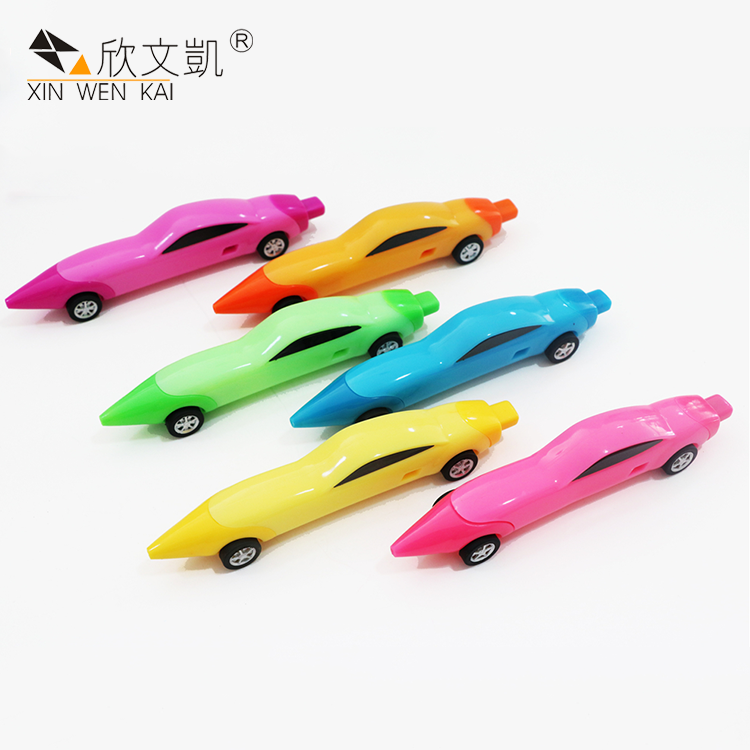 Promotion Kids Novelty Plastic Ballpoint Pen Multifunction Cartoon Car Toy Pen