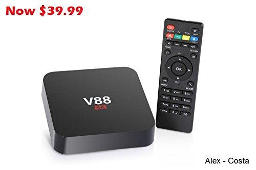 TV Box Android 5.1, V88, Quad Core 1G/8GB_ 1080, Kodi 16.1, Streaming Media Player