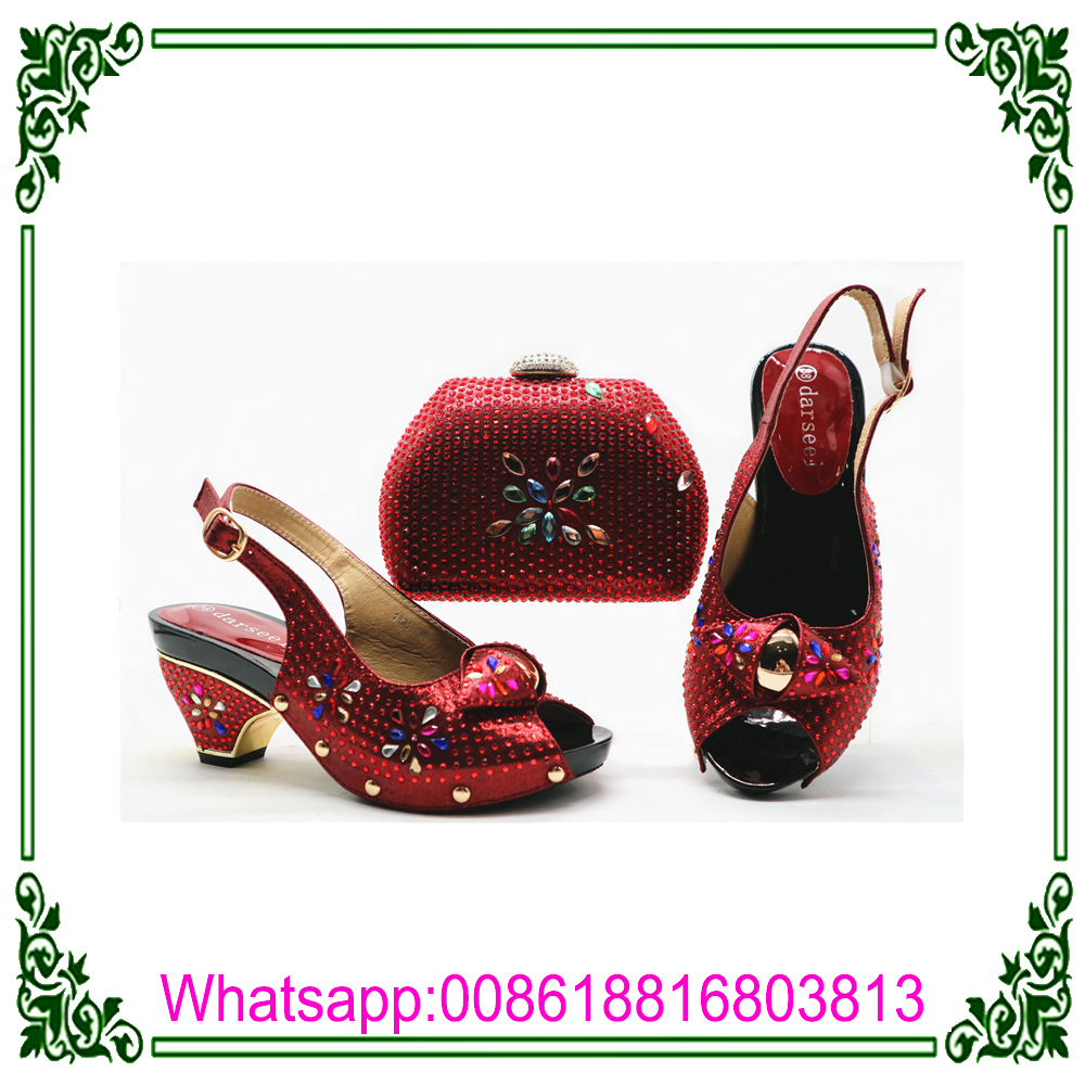 c05382fa1a6 Latest cm shoes Bags Italian and Low Heel bag Shoes With 4 ladies african  set Matching ...