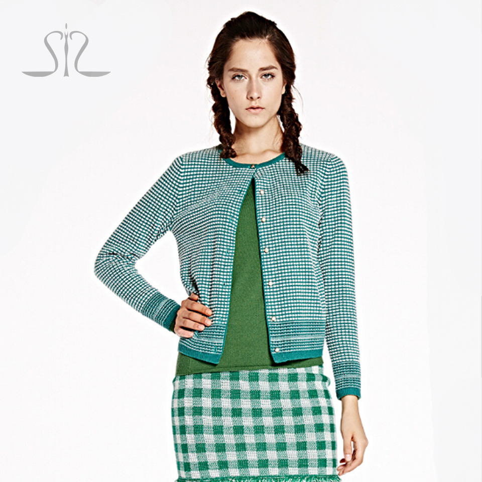 Ladies Computer Knitted O neck Cardigans 2015 New Winter ...