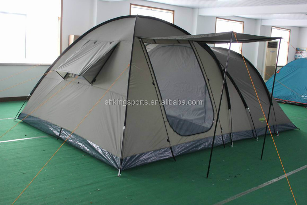 high quality canvas tent for camping KSF-F2007 ,5+ person tents