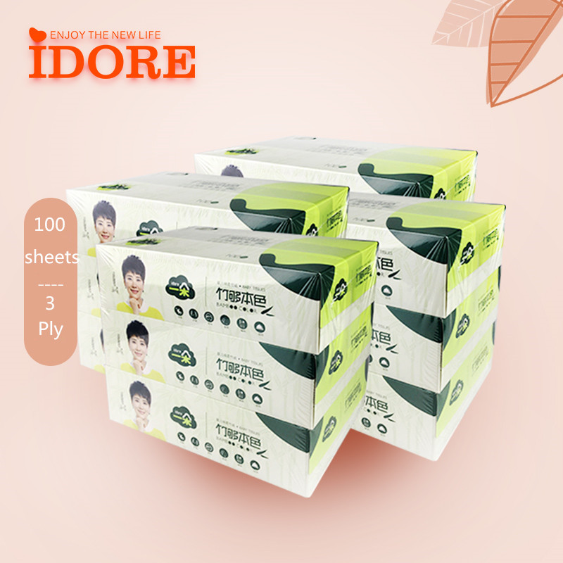 original color tissue papers unbleached box pack tissue papers manufacturer in China