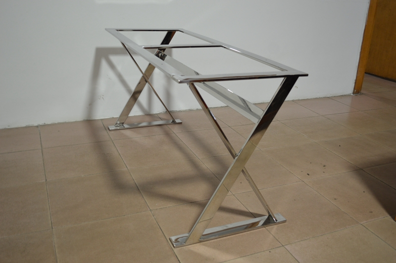 Stainless steel dining table frame metal table frame buy for Dining table frame design