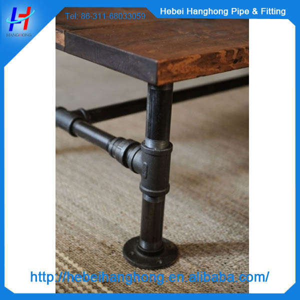black iron pipe fittings antique cast iron bar table base table legs