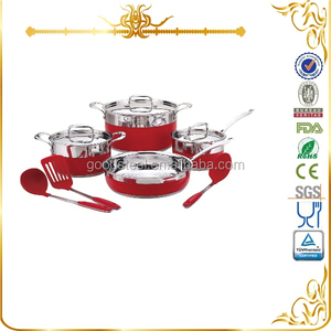 MSF-L3076 wholesale induction amc cookware price 10pcs stainless steel cookware set