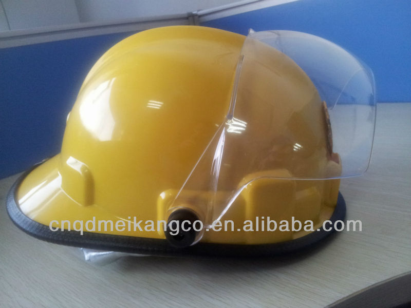 fire helmet with visor & glass faiber & polycarbonate visor