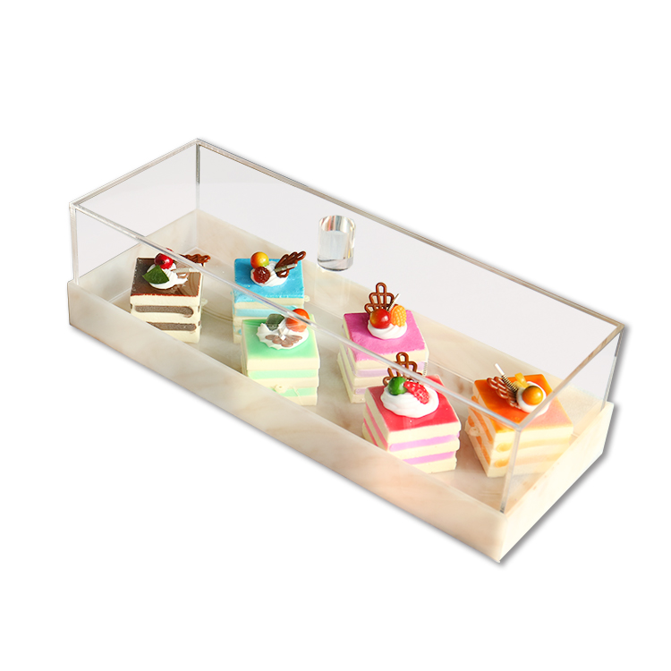 JINBAO High quality customized clear lucite plexiglass display stands acrylic cake <strong>boxes</strong> with removable lid for wedding