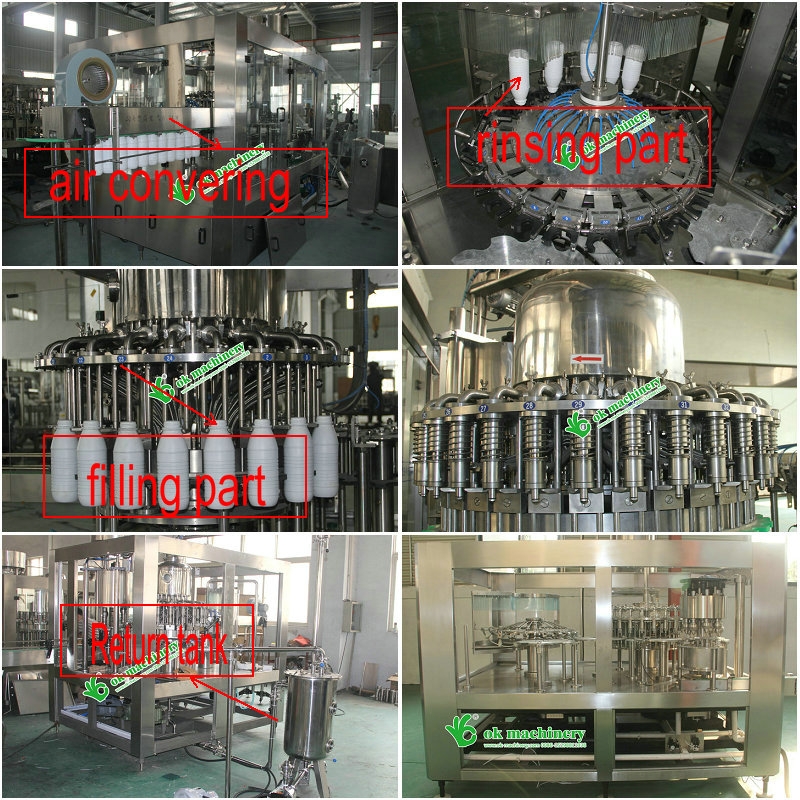 juice filling packaging machine for screw cap