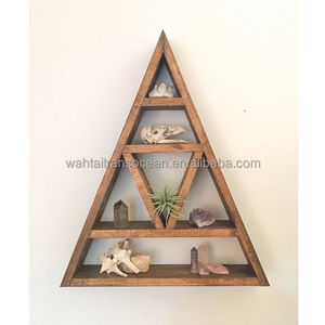 Wooden display frame modern decoration rustic country shelf