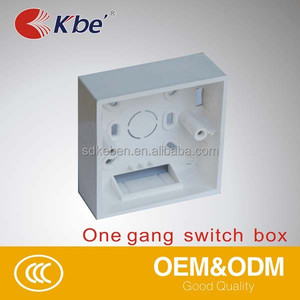 Square plastic surface junction electrical plastic box conduit switch box 86*86