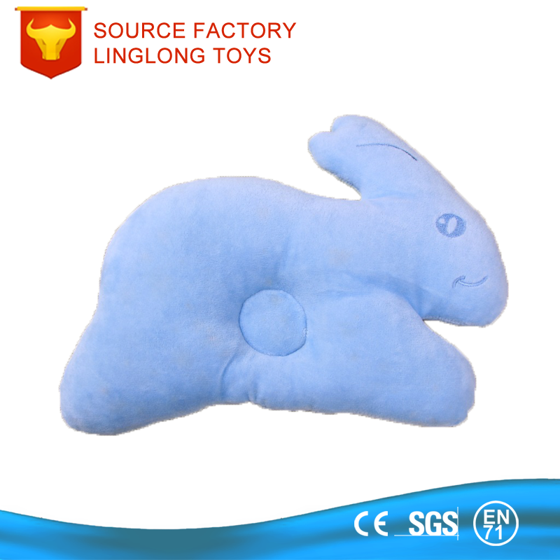 Blue Rabbit Baby Plush Pillow Infant Newborn Sleep Prevent Flat Head Shape Support Bunny Anti Roll Baby Head Positioner Pillow