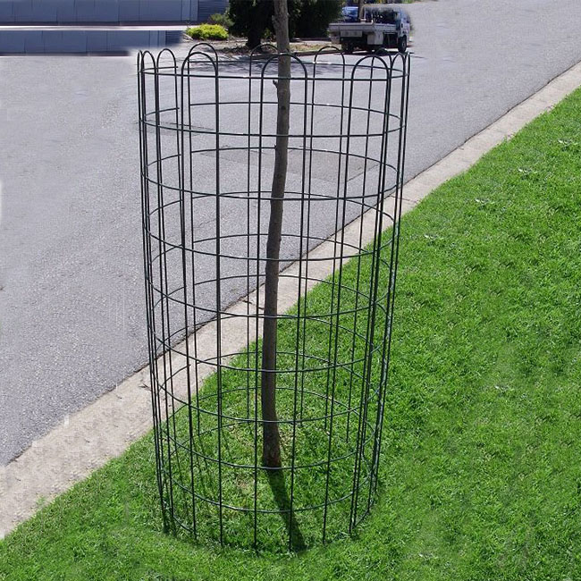 galvanized decorative welded tree protection metal fence welded metal tree guard