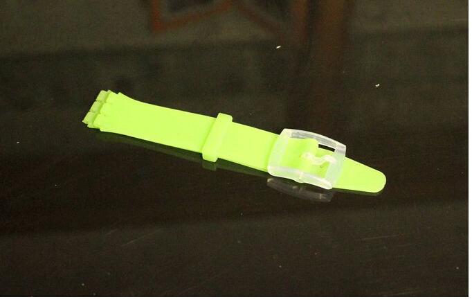 Силикон ремешок для образец кожи sfk силиконовая резина ремень 12 mm / 16 mm / 17 мм