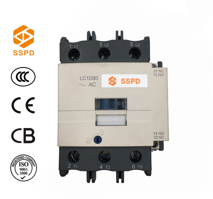 2016 classical Design electrical equipments contactor, circuit contactor ac LC1D80/