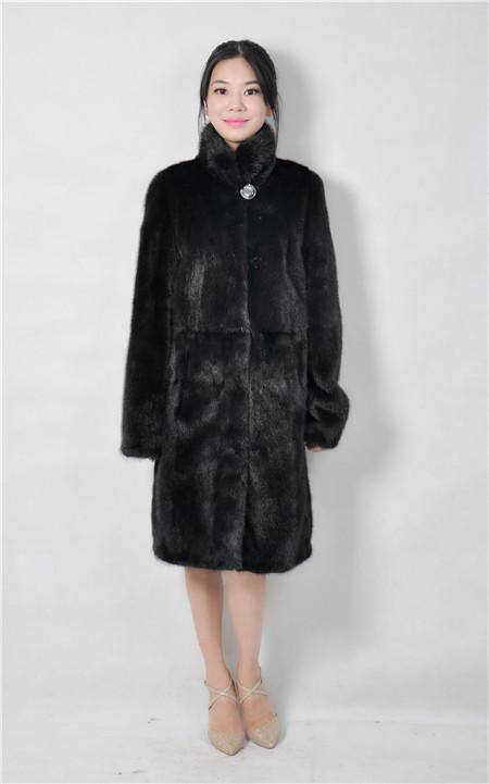 2016 font b winter b font woman fashion real fur mink coat stand collar 90cm length