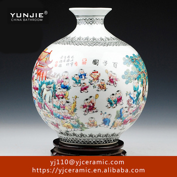 High Quality Handmade Ceramic Acrylic Flower Vase Stands Made In