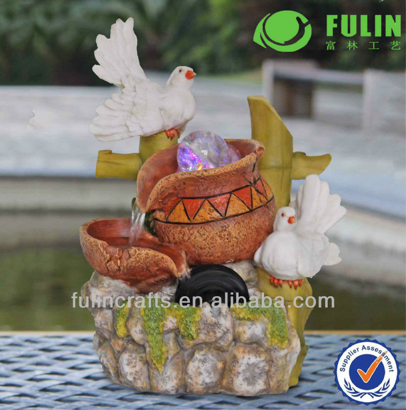 Color Changing Desktop Resin Mini Water Fountain Base