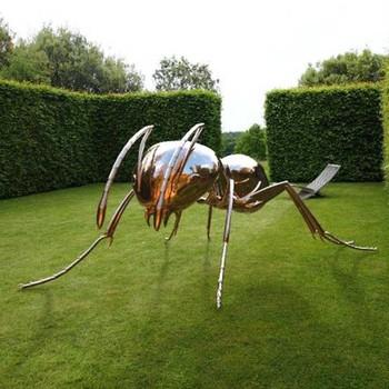 Insectos Tema Jardin De Artesania De Metal De Acero Inoxidable Gran - Escultura-jardin