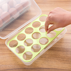 High quality kitchen portable PP firm 15 grid egg storage box