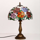 JLD-8351 handcraft tiffany table lamp with 12'' stained glass shade indoor home decorative lighting