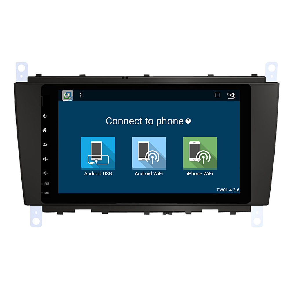 Car mp3 player android radio vider for Mercedes C Class usb sd dvd with wifi camera recorder