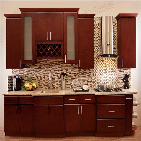 Desain Modern Dengan Warna Lemari Dapur Kayu Solid , Gaya